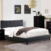 Ennis - Queen Bed, Dark Gray