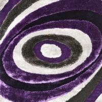 Winnipeg - 5' X 7' Gray & Purple Area Rug