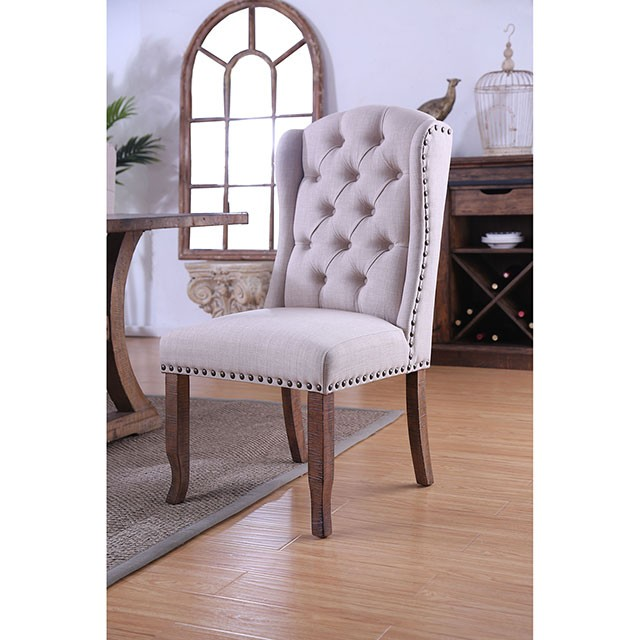 Gianna Wingback Chair Cm3829f Scw 2pk Chairs Brian Furniture Online Com