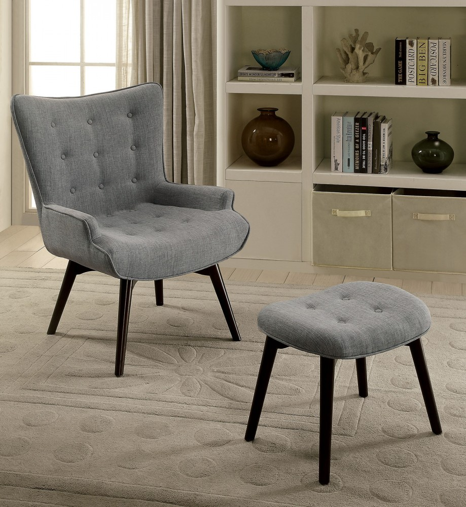 Miraculous Logrono Accent Chair W Ottoman Ocoug Best Dining Table And Chair Ideas Images Ocougorg