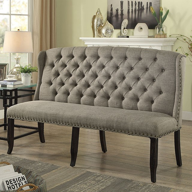 Magnificent Sania Iii 3 Seater Love Seat Bench Cm3324Bk Lg Bnl Pabps2019 Chair Design Images Pabps2019Com