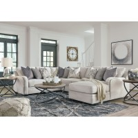 Dellara - Chalk-LAF Loveseat, Wedge, Armless Loveseat & RAF Corner Chaise
