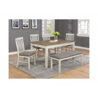 Brigitte 5 Piece Dinette Set White