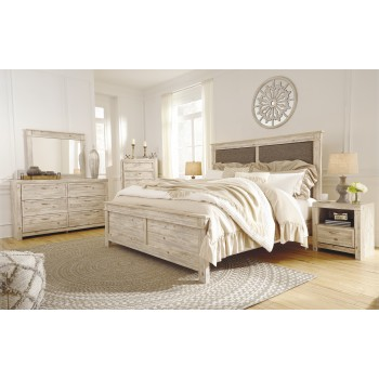 Willabry - Weathered Beige - 6 Pc. Group - 3 Pc. Queen Bed, Dresser, Mirror & Nightstand