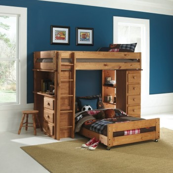 Twin Over Twin Loft Bunk Bed 7972 Bunk Beds American Home Furniture Electronics Appliances
