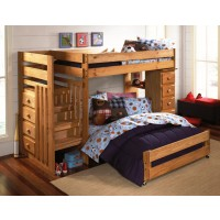 Twin Over Full Loft Stair Bunk Bed