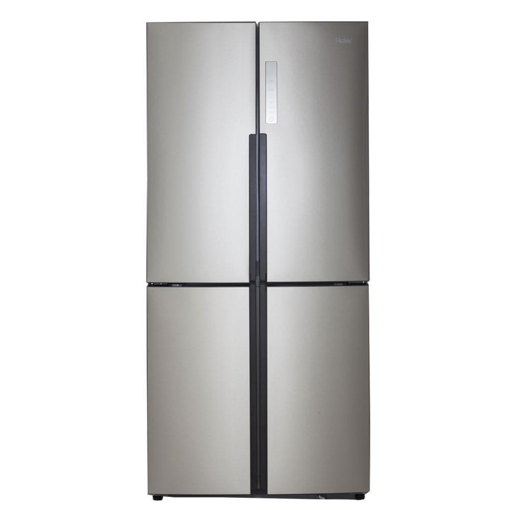 Haier 16.4cu.ft. Counter-Depth Quad Door Refrigerator - Stainless Steel