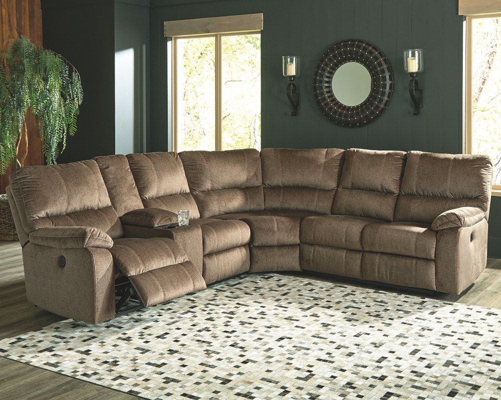 Urbino 3 Piece Reclining Sectional With Power Reclining Power
