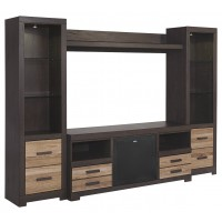 Harlinton 4-Piece Entertainment Center with Wireless Pairing Speaker