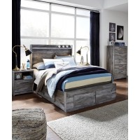 Baystorm - Baystorm Full Panel Bed with 4 Storage Drawers