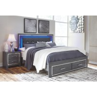Lodanna - Lodanna King Panel Bed with 2 Storage Drawers