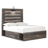 Drystan - Drystan Full Panel Bed with 4-Storage
