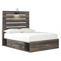 Drystan - Full Panel Bed with 4 Storage Drawers
