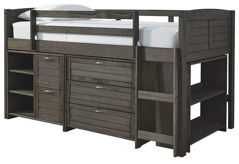 Caitbrook Twin Loft Bed With Storage B388b1 62 62b Loft Price Busters Furniture