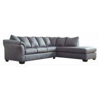 Darcy 2-Piece Sectional with Chaise and Sleeper
