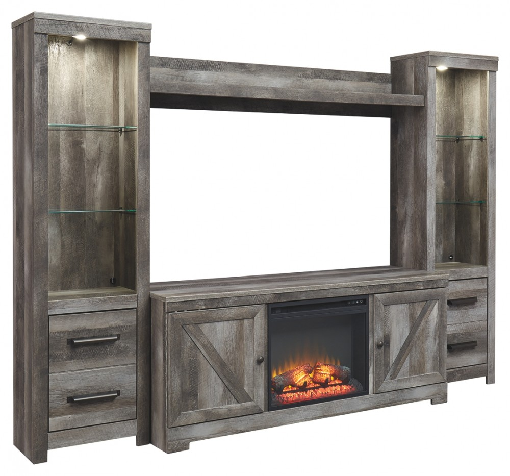 Wynnlow 4 Piece Entertainment Center With Fireplace W440w3 W10001