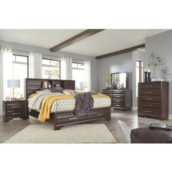 Andriel - California King Storage Bed with 2 Drawers