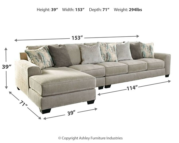 Ardsley 3 Piece Sectional With Chaise 39504s4 16 46 67