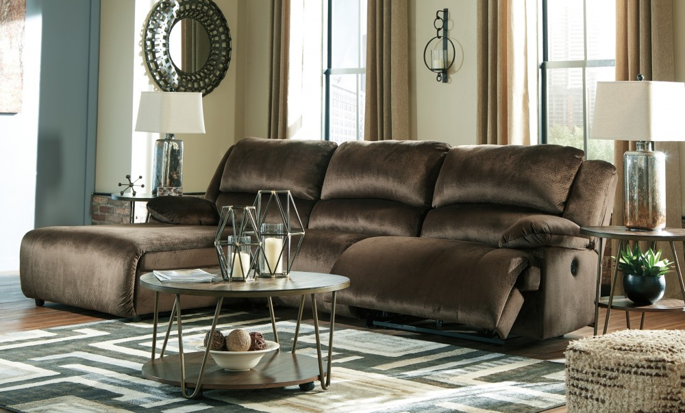 Clonmel - 3-Piece Power Reclining Sectional with Chaise