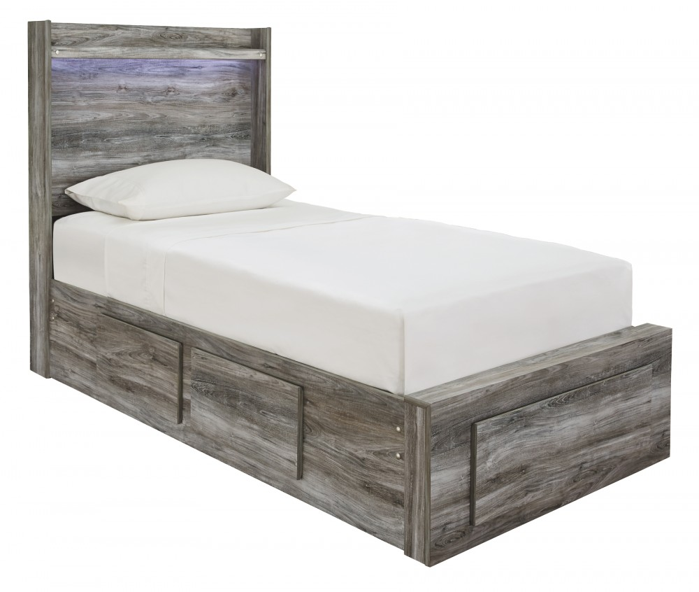 Baystorm - Twin Panel Bed with 5 Storage Drawers