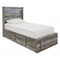 Baystorm - Baystorm Twin Panel Bed with 5 Storage Drawers