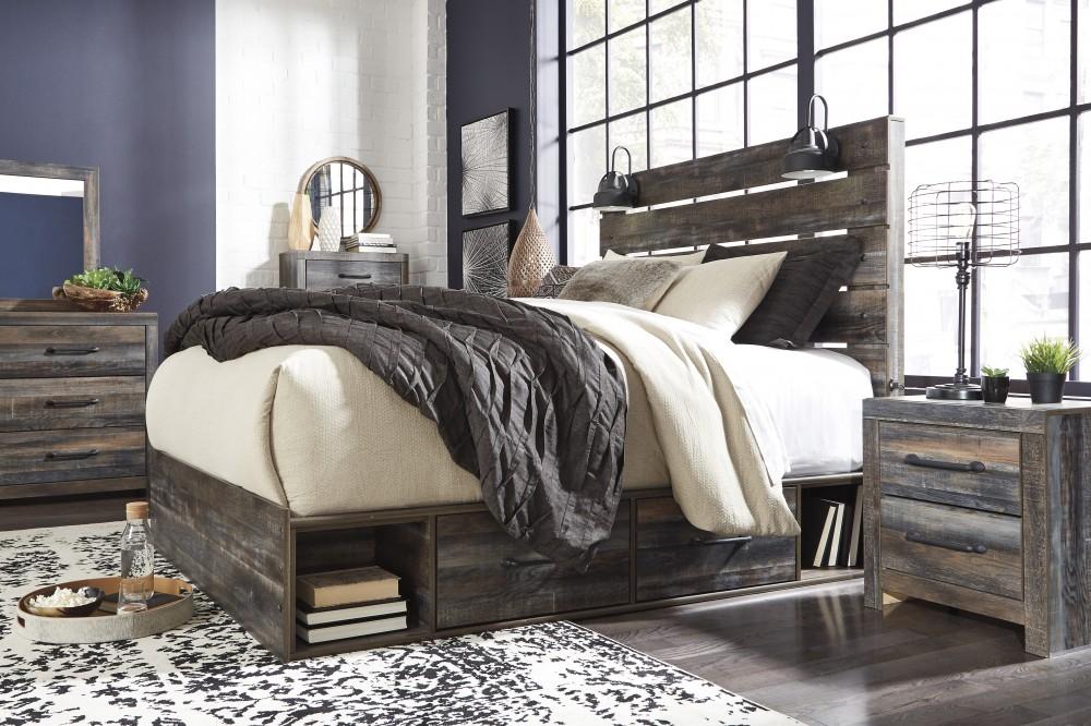 Drystan Queen Panel Bed with Storage