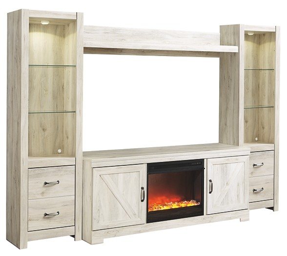 Bellaby - 4-Piece Entertainment Center with Fireplace