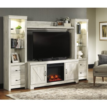 Bellaby - Bellaby  4-Piece Entertainment Center with Fireplace