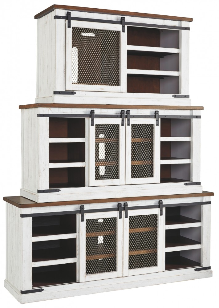 Wystfield White Brown Medium Tv Stand Consoles