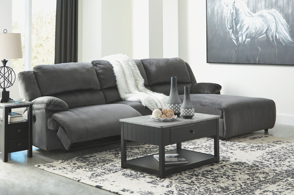 Clonmel 3-Piece Reclining Sectional with Chaise and Power