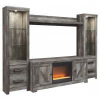 Wynnlow - Wynnlow 4-Piece Entertainment Center with Fireplace