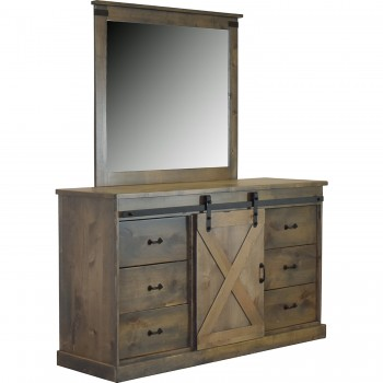 Farmhouse Barnwood FH7203/7204 Dresser and Mirror