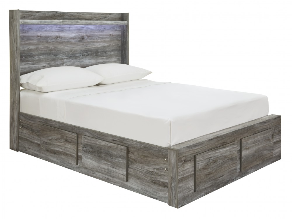 Baystorm - Full Panel Bed with 6 Storage Drawers