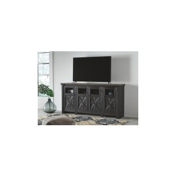Tyler Creek- Black/Gray- Extra Large TV Stand