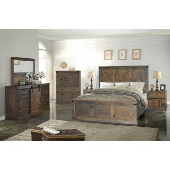 Farmhouse Barnwood FH7223/7213/7230 Queen Bed