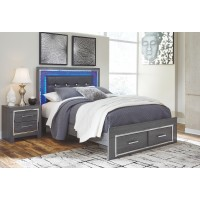 Lodanna - Queen Panel Bed with 2 Storage Drawers