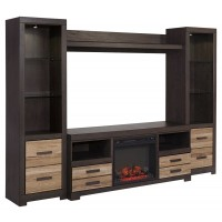 Harlinton 4-Piece Entertainment Center with Electric Fireplace