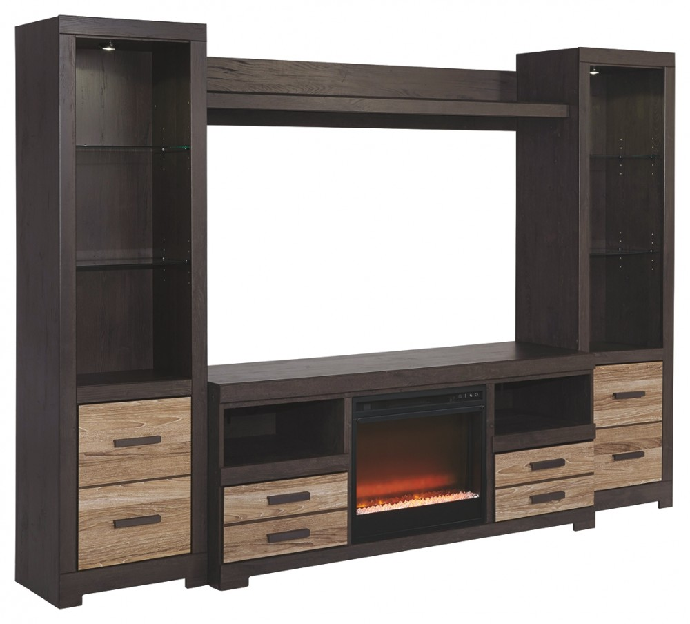 Harlinton 4 Piece Entertainment Center With Electric Fireplace