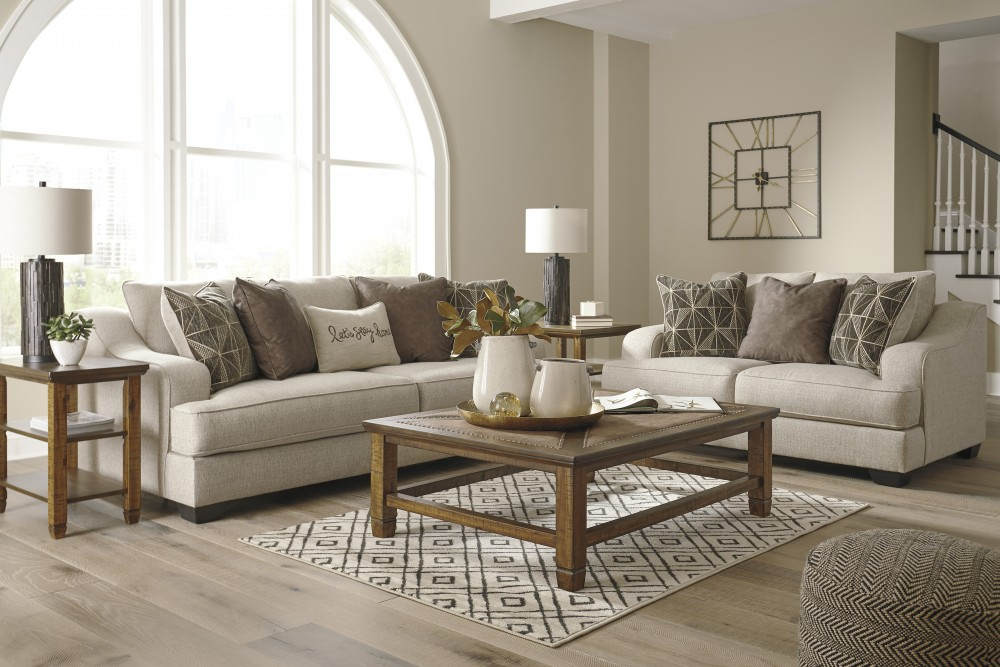 Magnificent Marciana Bisque Sofa Loveseat Gmtry Best Dining Table And Chair Ideas Images Gmtryco