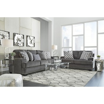 Locklin - Carbon - Sofa & Loveseat