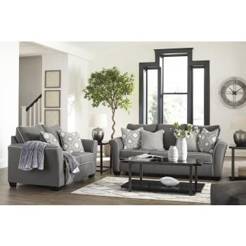 Domani Charcoal Sofa Amp Loveseat 98504 38 35 Living