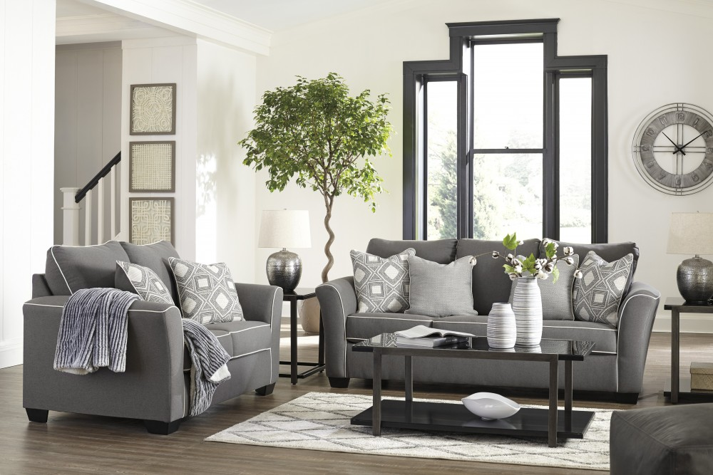 Fantastic Domani Charcoal Sofa Loveseat Squirreltailoven Fun Painted Chair Ideas Images Squirreltailovenorg