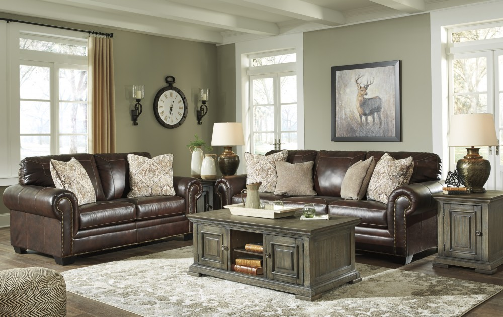 Roleson - Brown - Sofa & Loveseat