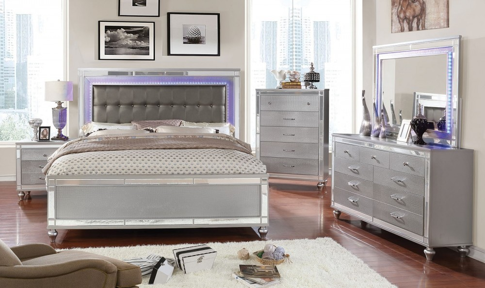 Brachium Mirrored 7PC Bedroom