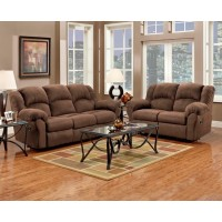 Aruba Chocolate Reclining Sofa & Loveseat