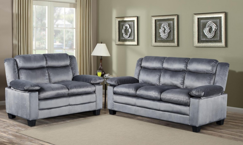 Gray soft sofa love 2401 s l living room sets - Living room sets for cheap prices ...