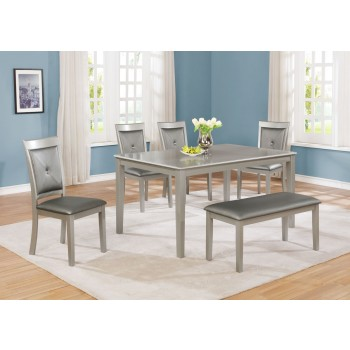 Manhattan Table 4 Chairs + Bench