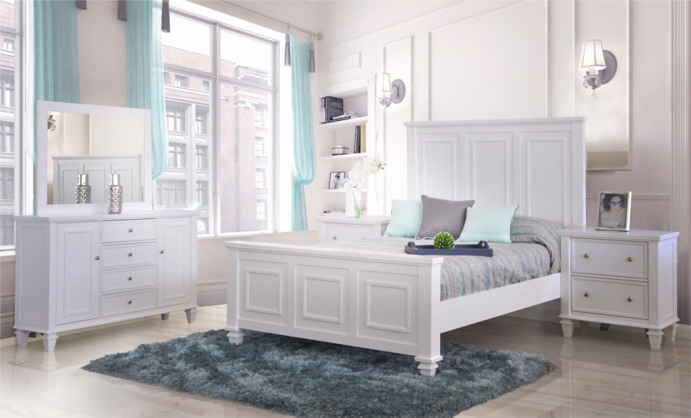 Ainsley Dove Grey 4-Piece Bedroom Set
