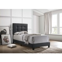 MAPES UPHOLSTERED BED - Twin Bed