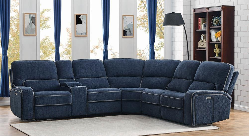 DUNDEE MOTION COLLECTION - 6 Pc Power2 Sectional